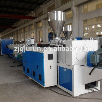 Conical twin screw extruder PVC tube making machine