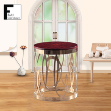 Customized Unique Center Round Wooden End Tables Design