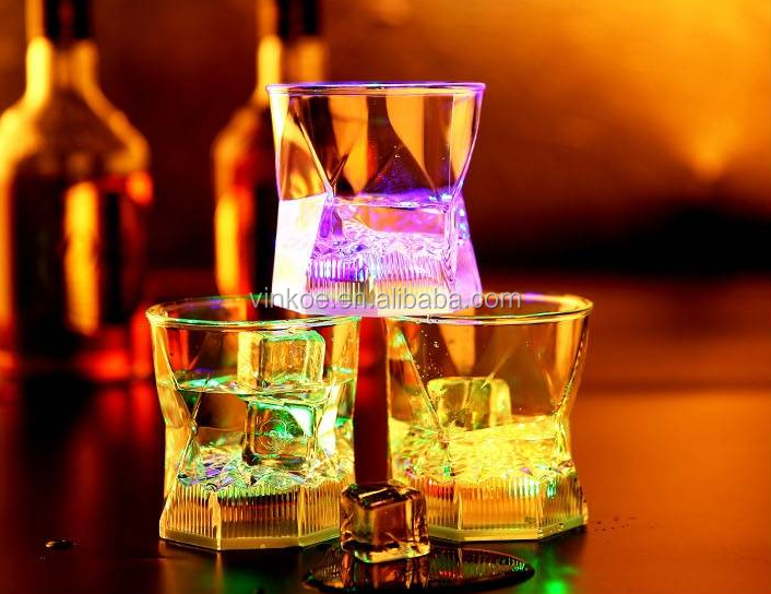 Inductive LED Wine Water Cup / Glass Bar Disco Whisky Beer Cup Colorful Night Light Cup