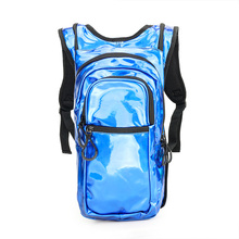 High quality PU leather hiking backpack waterproof hydration backpack with 2L water bladder