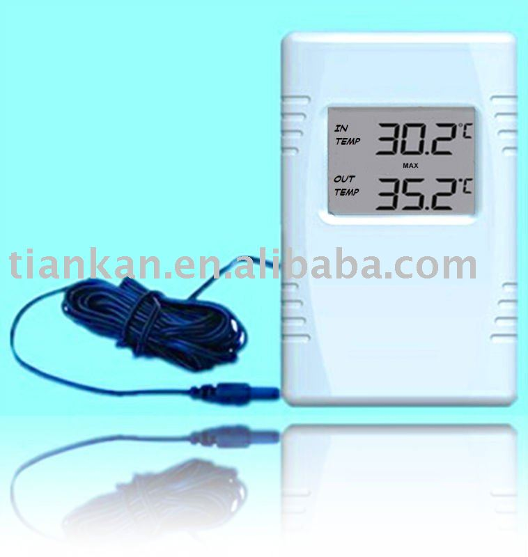 WT0103--Wire digital Indoor Outdoor Thermometer---handheld digital thermometer