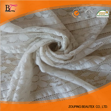 Factory supply elasticity rose bud lace fabric