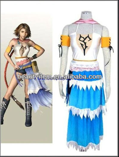 wholesale Final Fantasy XII 12 Yuna Cosplay Costume Custom Made