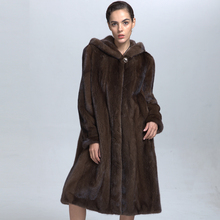 Modern Form Beautiful Women Mink Fur Winter Coat Importing from China