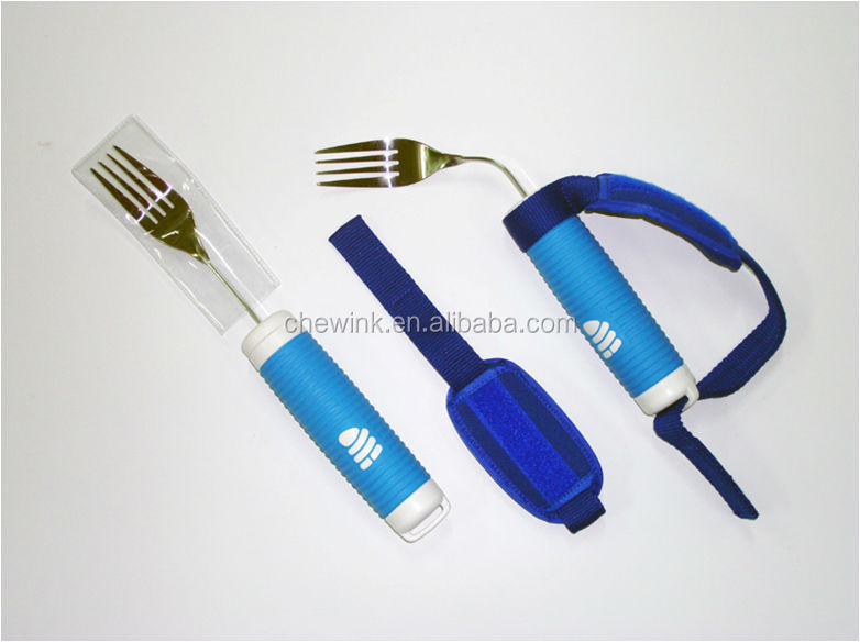 Disabled care Daily living Bendable Stainless Steel Fork for elderly with Strap