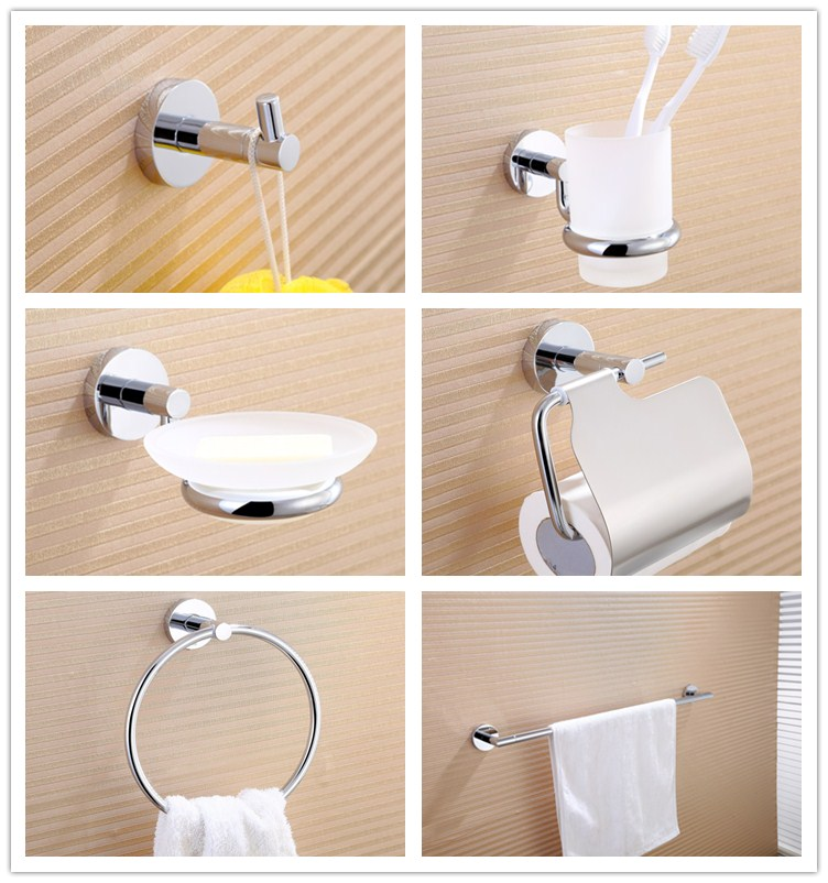 Bathroom Decor Stainless Steel Simply Bathroom Accessory 6 Piece Sets