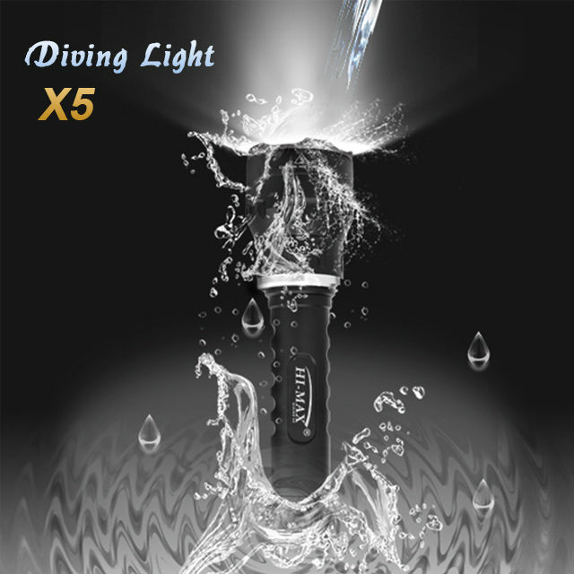 Scuba dive gear 100m waterproof led rechargeable diving lantern