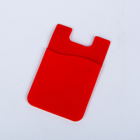 New promotional silicone smart wallet with 3m sticker
