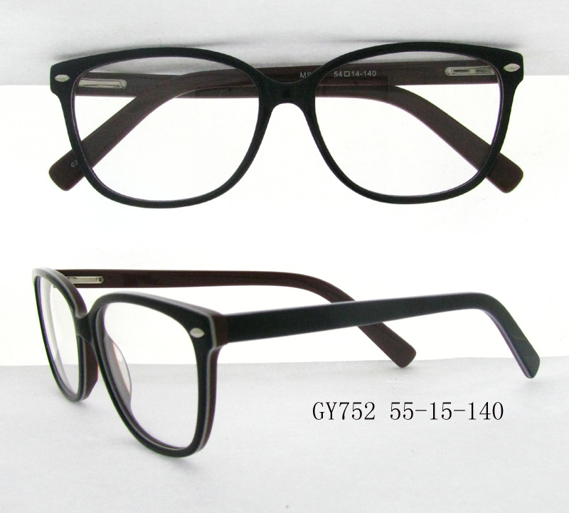New style spectacle frame wholesale personal opticals reading glasses eyeglasses frames Model GY752 black color