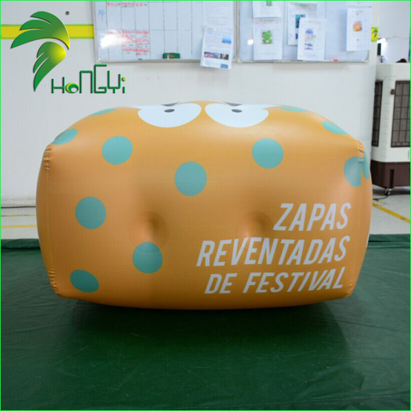 Airtight Yellow Rectangle Shape Balloon , Advertising Inflatable Square Balloon With Custom Logo Prints