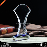 Crystal Glass Fan Shape Customized Replica Award Trophy