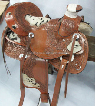 Big Horse Western Saddle With Hair on Seat