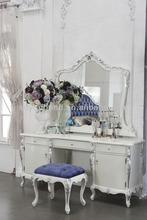 2015 0036 France design white neoclassic dresser with mirror furniture