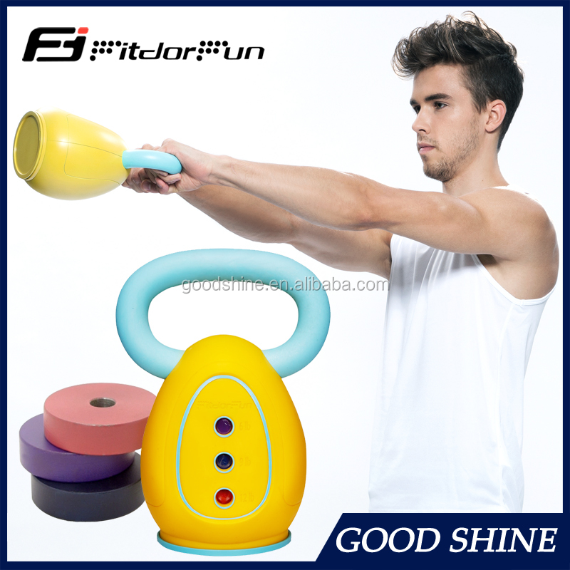 Wholesale Rubber coated kettlebell rubber kettlebell for gym equipment crossfit equipment