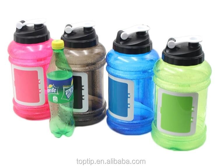 Mixed color 2.2 liter water bottle BPA free hot sales big volume water bottle 2.5L with wide mouth lid