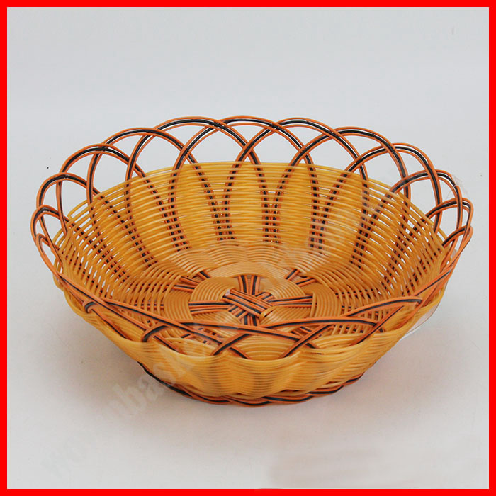 PP hollow pipe handmade woven bread plate