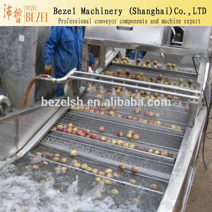 stainless steel SUS 304 wire mesh belt conveyor fruit washing conveyor rust resistant mesh belt conveyor