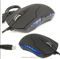 6D Adjustable LED USB Optical Gaming Mouse 2400 DPI PC Laptop Pro Gamer