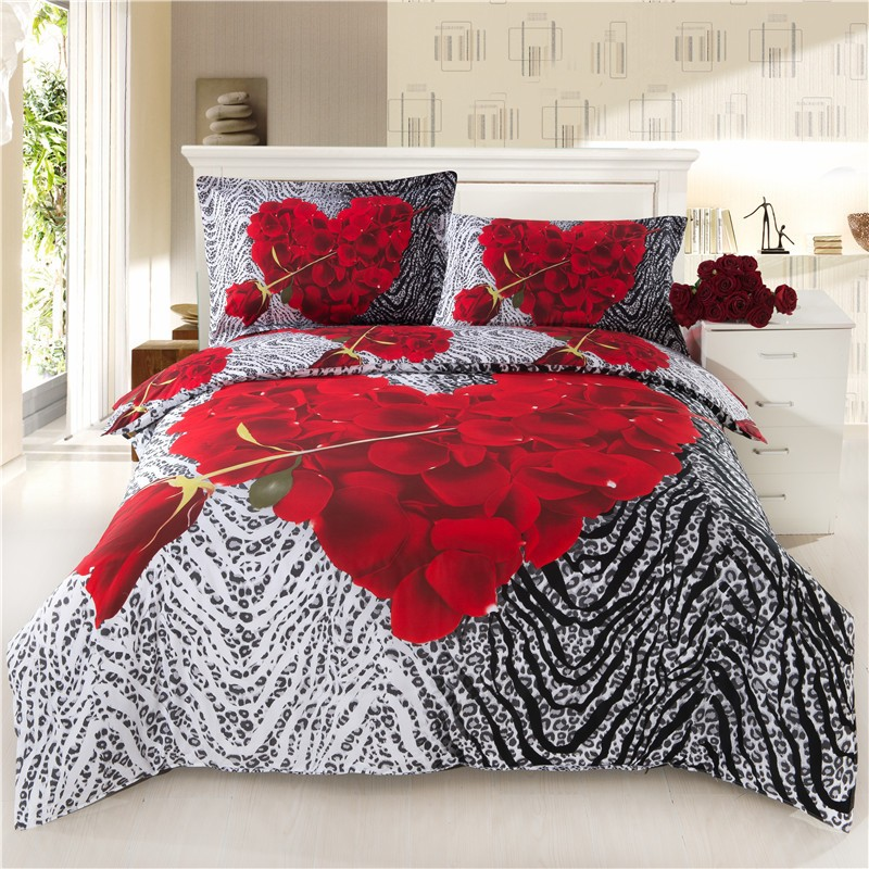 custom printed 3d bedding set made in india