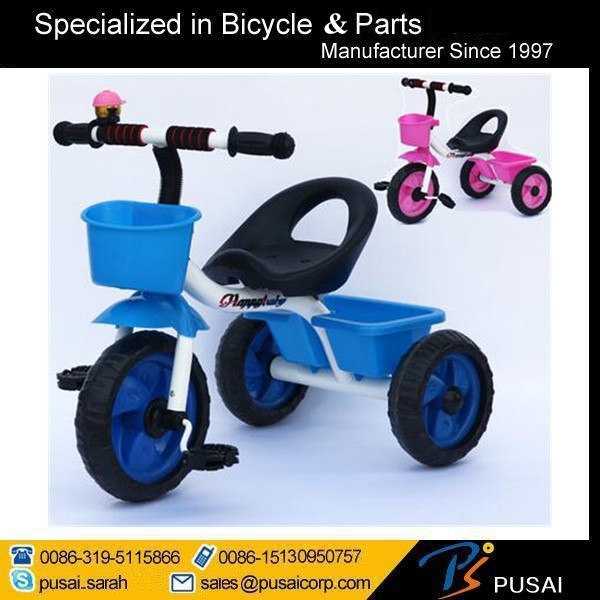 Factory Price Baby Tricycle 2 Seats Children Tricycle Kids Bike