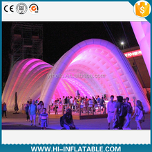 Creative giant inflatable dome cube air tent inflatable igloo tent inflatable giant exhibition dome tent with LED lights