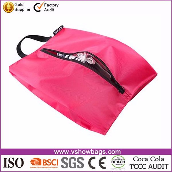 China factory promotional cheap matching shoe bag,travel shoe and bag set