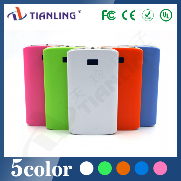 New power source with LCD dual USB 8000mAh portable power bank
