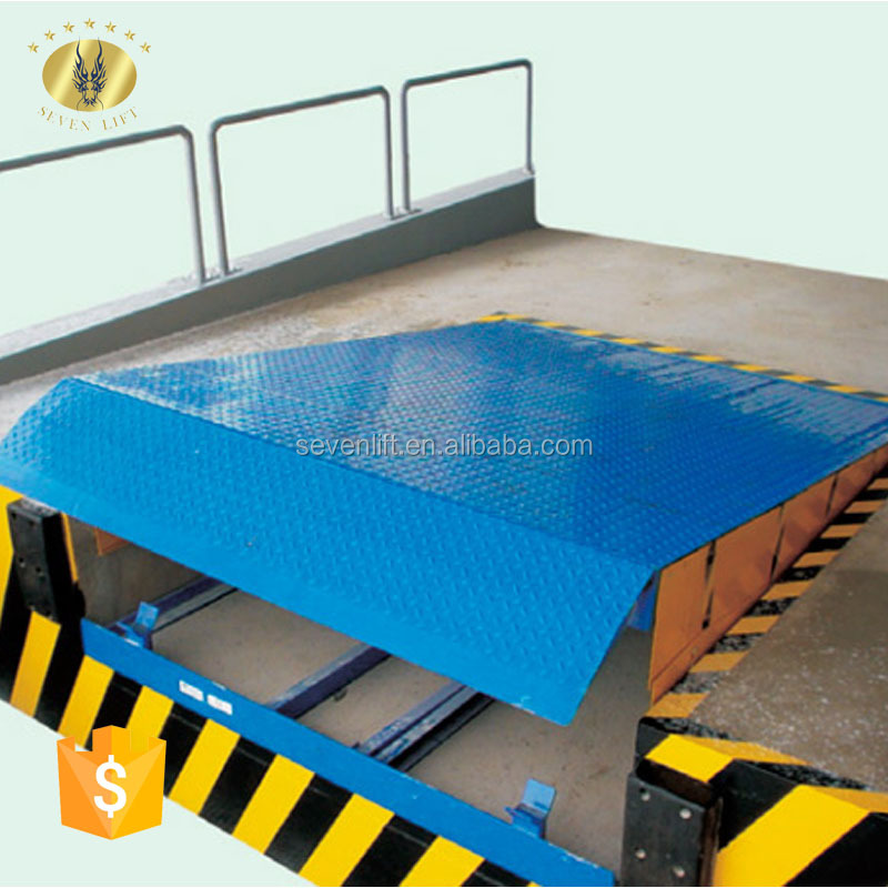 7LGQ Shandong SevenLift stationary trailer ramp dock leveler manual for forklift loading