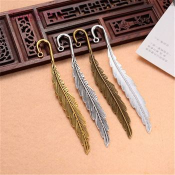 2019 office supplies and stationery classic feather multi color metal bookmark hook 438