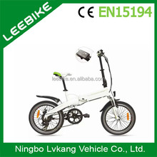 Fast 20 inch electric road bicycle 36V 8.8Ah Lithium battery