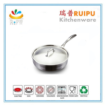 Durable turkey frying stainless steel fish pot 24cm Diameter Good Quality deep fry pot with handle,cook pan