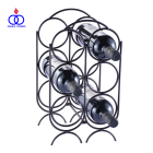 Customized Wholesale Modern Decorative Stackable Iron Metal Wine Rack