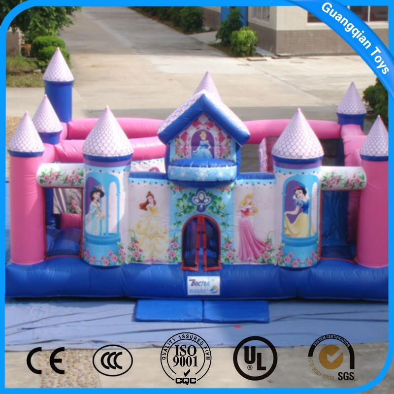 Guangqian Princess Outdoor Games Inflatable Bounce Castle for Sale