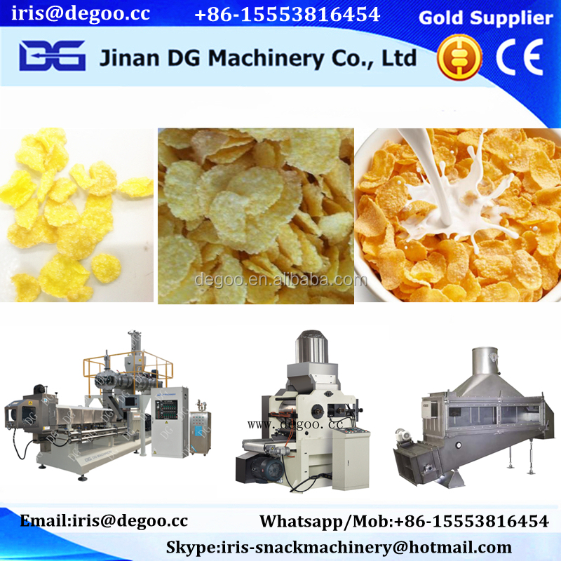 high quality cereal corn flakes machine/corn chips production line/corn flakes production line