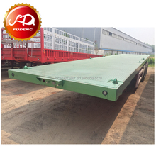 2 Axle 3 Axle 40ft 20ft New 40 Feet Flat Truck Flatbed Container Semi Trailer For Sale,