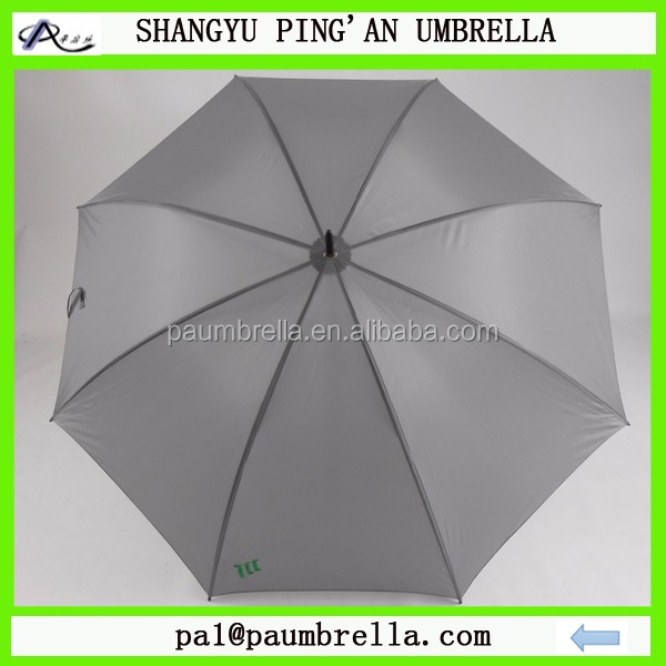 75cm golf umbrella double ribs grey color with customer logo printing