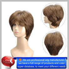 Factory Price Synthetic korean hair style wig, short style grey hair wig, fake hair wigs