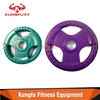 Rubber Tri-grip Olympic Plates /Dumbell Weight Disc