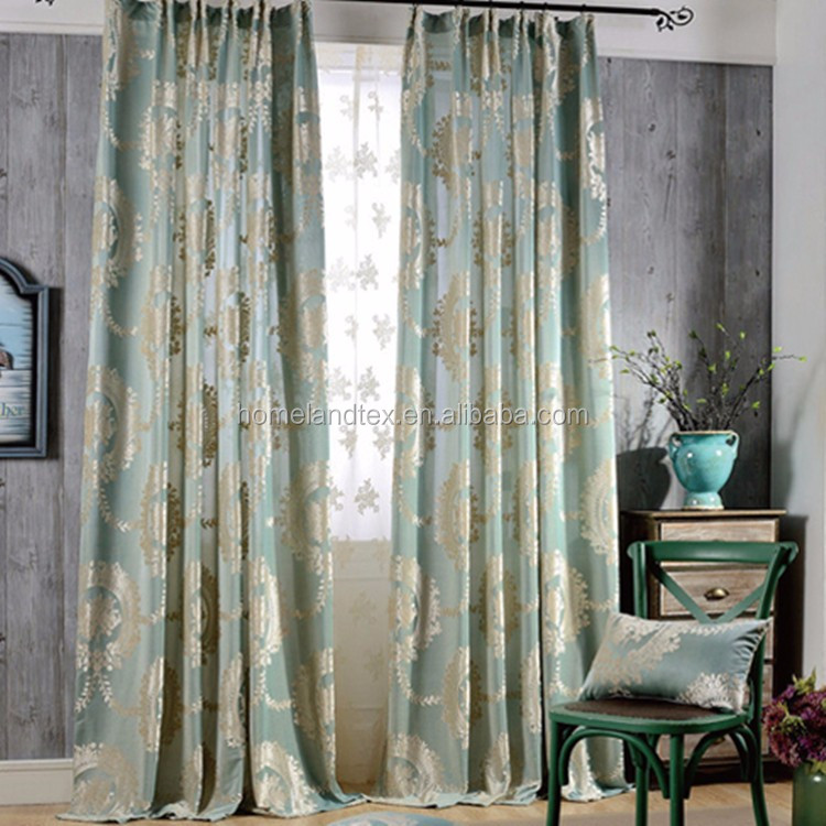 2016 new Europe Embroidered Sheer Window Curtains For living Room/ Bedroom Blackout Curtains Window /drapes Home Decor
