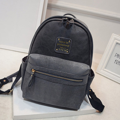 2016 summer women leather backpack small school bags for teenage girls serpentine fashion women backpacks zipper bag female