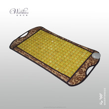 Natural jade electric heating magnetic therapy massage mattress