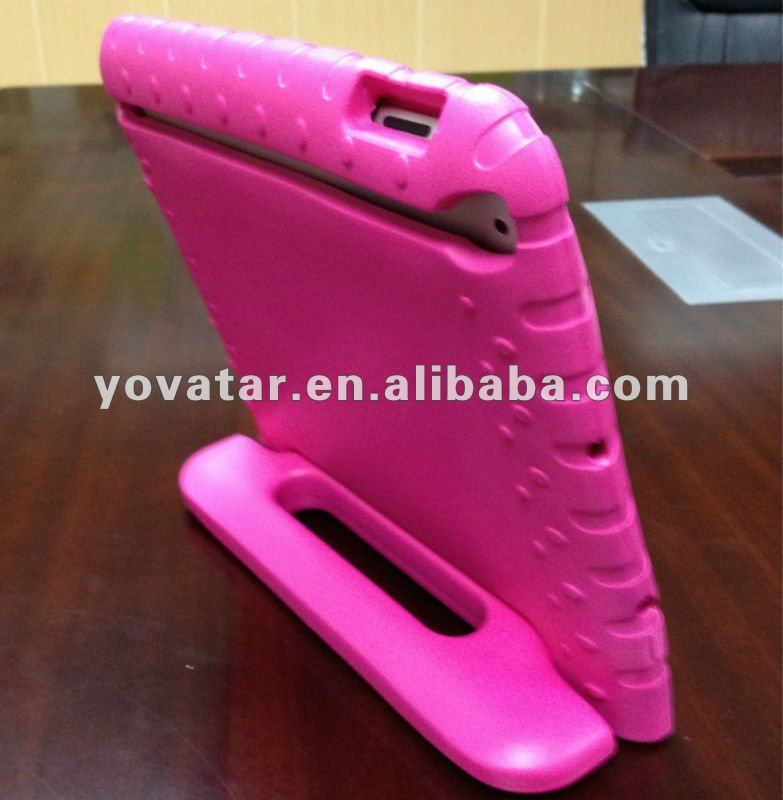Rose Red Portable EVA Foam Shockproof Cute Soft carrying case for iPad mini special for children gift