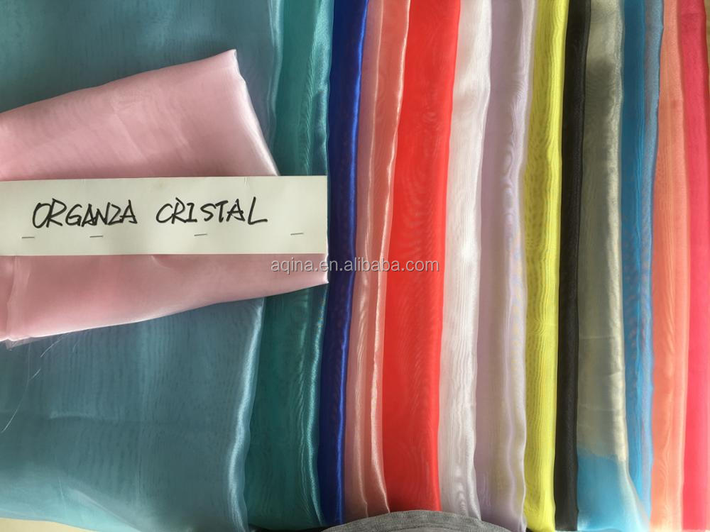 Organza cristal super wedding dress fabric