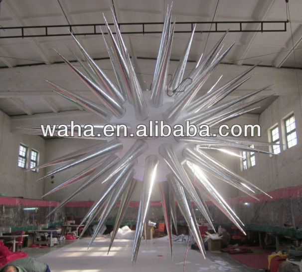 2013 brand new party/nightclub/event/celebration/park/wedding decoration inflatable star with led light