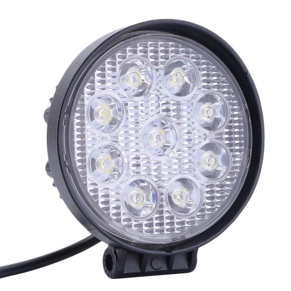 China Factory directly wholesale 12V 24V 4.5inch 27W Round Offroad Auto led work light , led headlight , led driving light