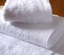 Hotel towels 16s white dobby 100% cotton hotel bath towels