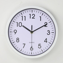 12 inch simple office design round plastic decorative bulk wall clock