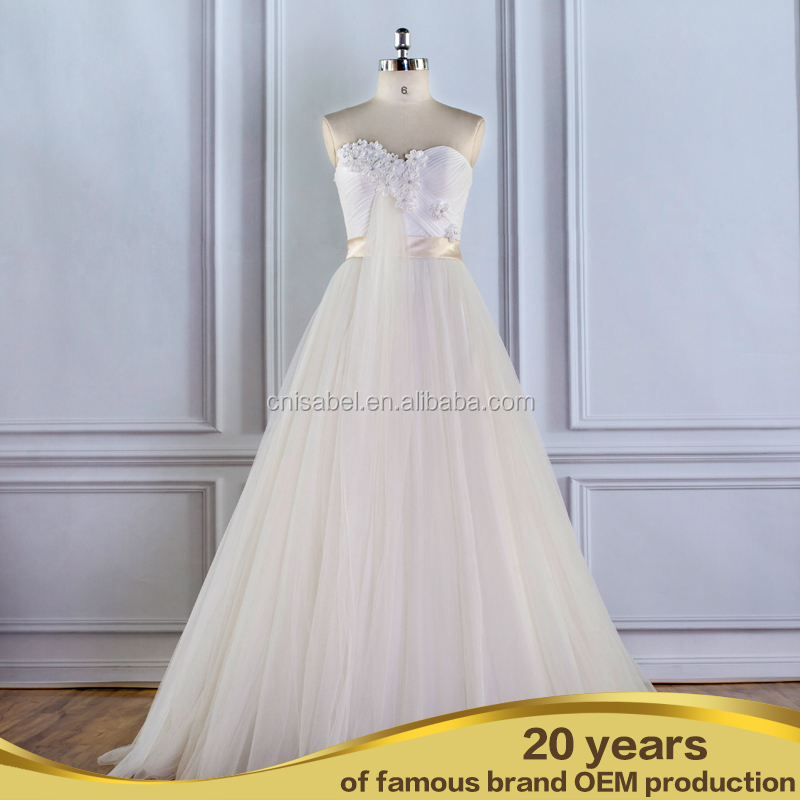 Long Sleeve Appliqued Soft Tulle High-end Fabric Round Collar Bridal Wedding Gown/Excellent Lace Country Wedding Dresses