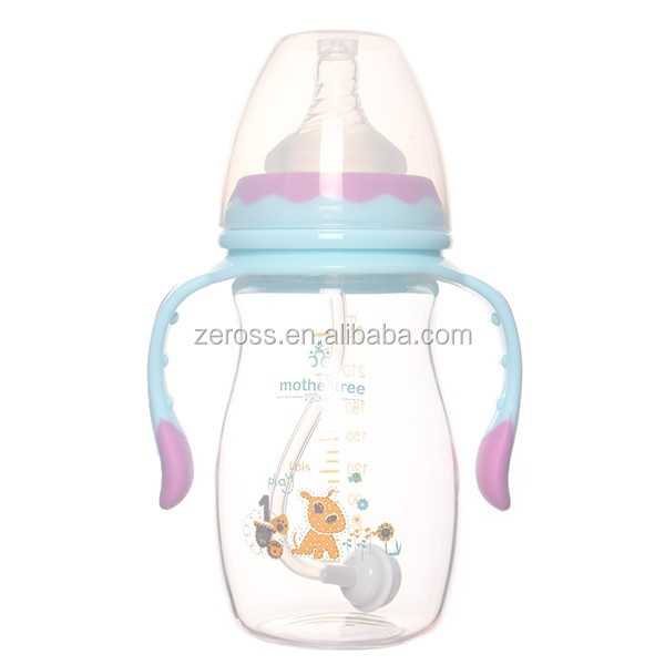 240ml made by high quality PP wide neck baby milk feeding bottle