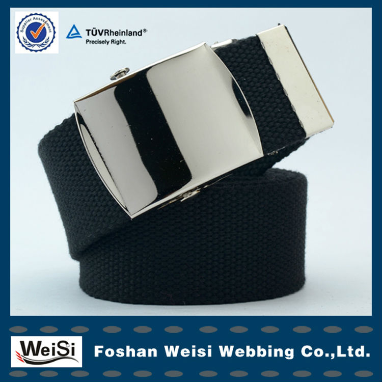 Wholesale Metal Buckle Polyester Mens Canvas Belt OEM Accepted